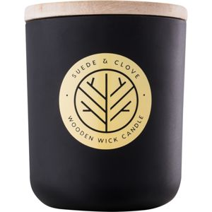 DW Home Black Suede & Clove vonná sviečka 320,35 g s dreveným knotom