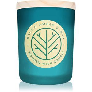 DW Home Baltic Amber & Oud vonná sviečka s dreveným knotom 107,73 g