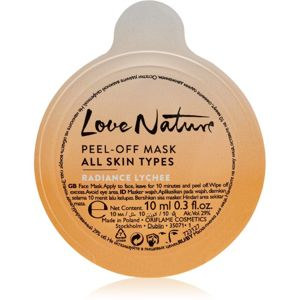 Oriflame Love Nature zlupovacia maska pre všetky typy pleti Radiance Lychee 10 ml
