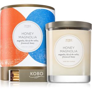 KOBO Natural Math Honey Magnolia vonná sviečka 312 g