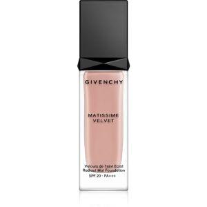 Givenchy Matissime Velvet dlhotrvajúci zmatňujúci make-up SPF 20 odtieň 02 Mat Shell 30 ml