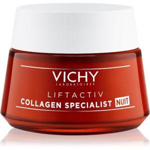 Vichy Liftactiv Collagen Specialist spevňujúci nočný krém proti vráskam 50 ml