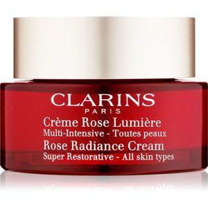 Clarins Cièrme Rose Lumière obnovujúci denný krém proti vráskam 50 ml