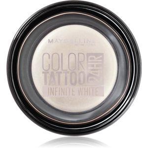 Maybelline Color Tattoo gélové očné tiene odtieň Infinite White 4 g