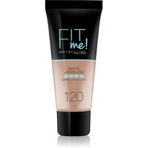Maybelline Fit Me! Matte+Poreless zmatňujúci make-up pre normálnu až mastnú pleť odtieň 120 Classic Ivory 30 ml