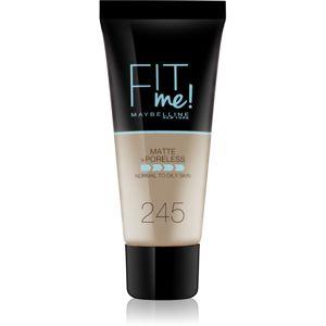 Maybelline Fit Me! Matte+Poreless zmatňujúci make-up pre normálnu až mastnú pleť odtieň 245 30 ml