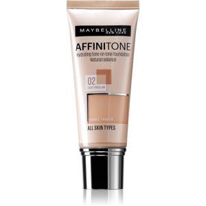 Maybelline Affinitone hydratačný make-up odtieň 02 Light Porcelain 30 ml