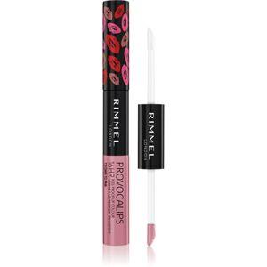 Rimmel Provocalips dlhotrvajúca dvojfázová farba a lesk na pery odtieň 110 Dare to Pink 7 ml
