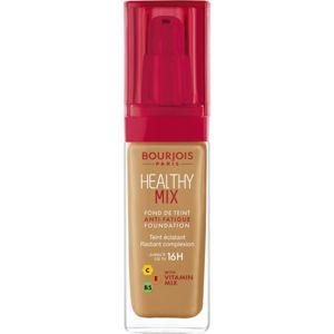 Bourjois Healthy Mix rozjasňujúci hydratačný make-up 16h odtieň 57,5 Golden Caramel 30 ml