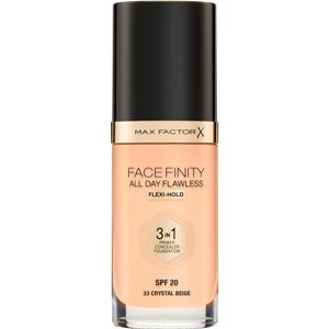 Max Factor Facefinity All Day Flawless make-up 3v1 odtieň 33 Crystal Beige 30 ml