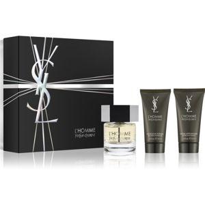 Yves Saint Laurent L'Homme darčeková sada XII. (pre mužov) toaletná voda 60 ml + sprchový gel 50 ml + balzam po holení 50 ml