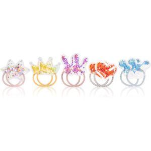 BrushArt KIDS Rainbow gumičky do vlasov pre deti 10 ks
