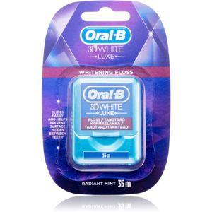 Oral B 3D White Luxe voskovaná dentálna niť s bieliacim účinkom Radiant Mint 35 m