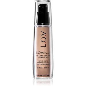 L.O.V. LOVtime dlhotrvajúci make-up SPF 20 odtieň 001 Alabaster 30 ml