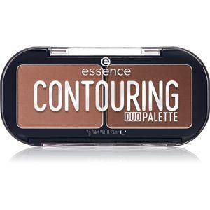 Essence Contouring Duo Palette kontúrovacia paletka na tvár odtieň 20 Darker Skin 7 g