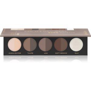 Catrice Professional Brow Palette paleta pre líčenie obočia odtieň 010 Light to Medium 5,5 g
