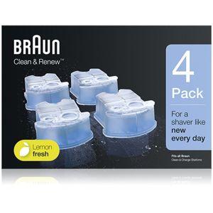 Braun Series Clean & Renew náhradné náplne do čistiacej stanice s vôňou Lemon Fresh 4 ks
