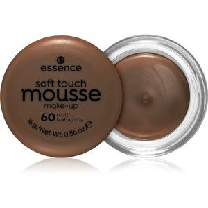 Essence Soft Touch zmatňujúci penový make-up odtieň 60 Matt Mahogany