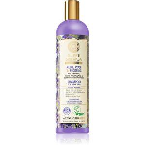 Natura Siberica Kedr, Rose & Protein proteínový šampón pre oslabené vlasy 400 ml