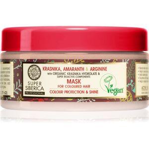 Natura Siberica Krasnika, Amaranth & Arginine ošetrujúca maska pre farbené vlasy 300 ml