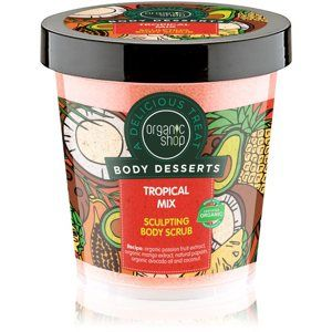 Organic Shop Body Desserts Tropical Mix zoštíhlujúci telový peeling 450 ml