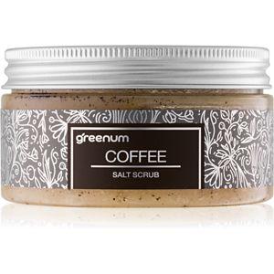 Greenum Salt Scrub soľný peeling na telo s vôňou Coffee 320 g