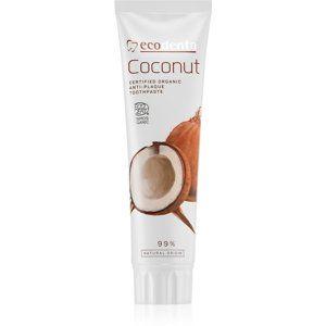 Ecodenta Cosmos Organic Coconut zubná pasta bez fluoridu na posilnenie zubnej skloviny 100 ml