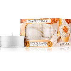 Yankee Candle Spiced White Cocoa čajová sviečka 12 x 9,8 g