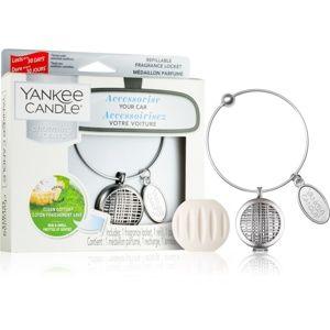 Yankee Candle Clean Cotton vôňa do auta prívesok + náhradná náplň (Linear)
