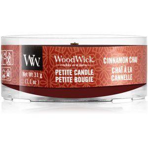 Woodwick Cinnamon Chai votívna sviečka 31 g s dreveným knotom