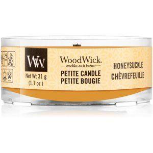 Woodwick Honeysuckle votívna sviečka s dreveným knotom 31 g