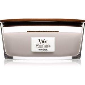 Woodwick Wood Smoke vonná sviečka s dreveným knotom (hearthwick) 453,6 g