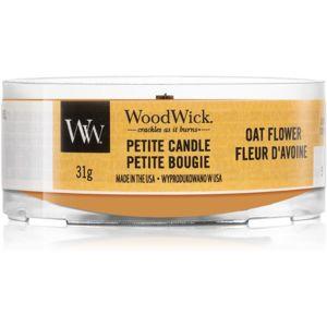 Woodwick Oat Flower votívna sviečka s dreveným knotom 31 g