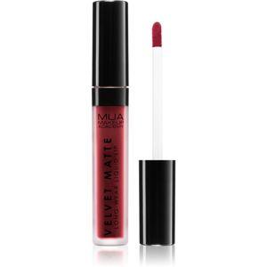 MUA Makeup Academy Velvet Matte matný tekutý rúž odtieň Firecracker 3 ml