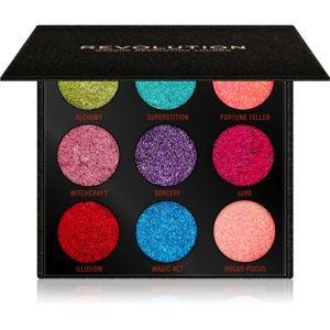 Makeup Revolution Pressed Glitter Palette paletka lisovaných trblietok odtieň Abracadabra 10,8 g