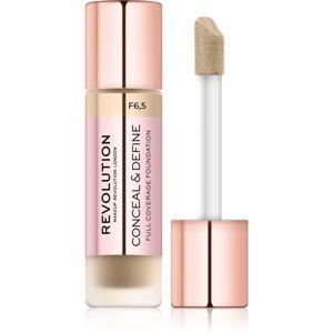 Makeup Revolution Conceal & Define krycí make-up odtieň F6.5 23 ml