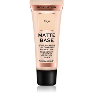 Makeup Revolution Matte Base krycí make-up odtieň F6,5 28 ml