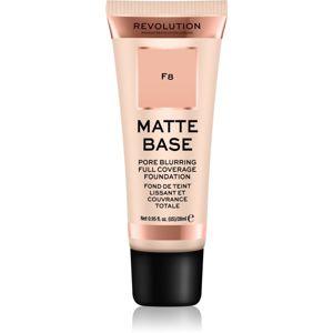 Makeup Revolution Matte Base krycí make-up odtieň F8 28 ml