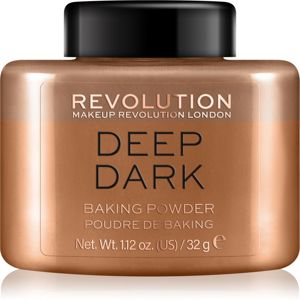 Makeup Revolution Baking Powder sypký púder odtieň Deep Dark 32 g