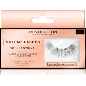 Makeup Revolution False Lashes Volume nalepovacie mihalnice + lepidlo 1 ml NO.11 Labyrinth