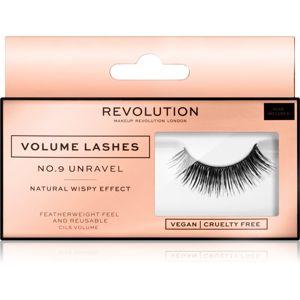 Makeup Revolution False Lashes Volume nalepovacie riasy + lepidlo 1 ml NO.9 Unravel