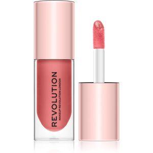 Makeup Revolution Pout Bomb lesk na pery pre väčší objem s vysokým leskom odtieň Kiss 4,6 ml