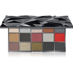 Makeup Revolution Glass Black Ice paletka očných tieňov 16,5 g