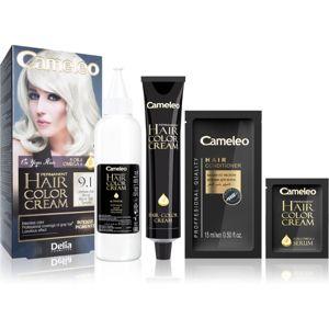 Delia Cosmetics Cameleo Omega permanentná farba na vlasy odtieň 9.1 Ultimate Ash Blonde