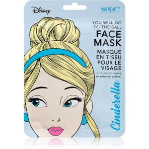 Mad Beauty Disney Princess Cinderella plátenná maska pre rozjasnenie a vitalitu pleti 25 ml