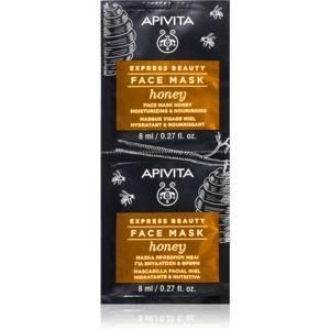 Apivita Express Beauty Honey hydratačná a vyživujúca maska na tvár 2 x 8 ml