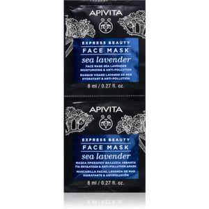 Apivita Express Beauty Sea Lavender pleťová maska s hydratačným účinkom 2 x 8 ml