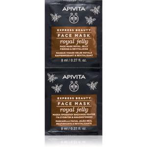 Apivita Express Beauty Royal Jelly revitalizačná pleťová maska so spevňujúcim účinkom 2 x 8 ml
