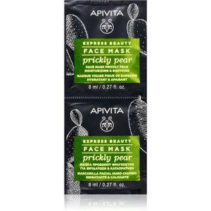 Apivita Express Beauty Prickly Pear upokojujúca pleťová maska s hydratačným účinkom 2 x 8 ml