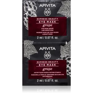 Apivita Express Beauty Grape očná maska s vyhladzujúcim efektom 2 x 2 ml